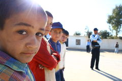 Refugee Camp in Iraq Royalty Free Stock Image