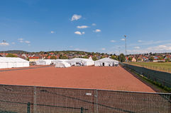 Refugee Camp Marburg Royalty Free Stock Photography