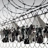 Refugee camp Royalty Free Stock Photo