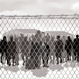 Refugee camp Stock Photo