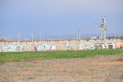 Refugee camp. For syrian people settled in Turkey. In this camp live 20000 people Royalty Free Stock Photos