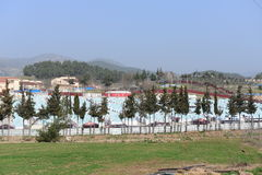 Refugee camp. For syrian people settled in Turkey. In this camp live 20000 people Royalty Free Stock Photography