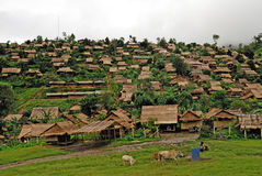 Refugee camps. In Thailand stock photos