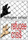 Refugee crisis Stock Photo