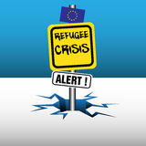 Refugee crisis signpost Royalty Free Stock Photo