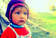 Nomadic agricaltural labours kid - portrait Royalty Free Stock Image