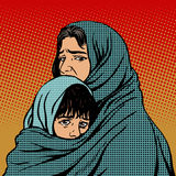 Refugee mother and child migration poverty Stock Images