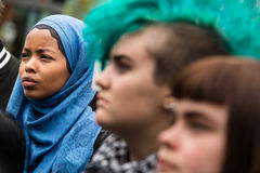 Refugee rights rally Royalty Free Stock Image