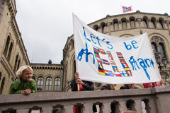 Refugee rights rally Royalty Free Stock Photography
