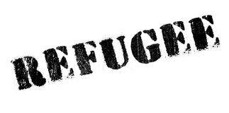 Refugee rubber stamp Royalty Free Stock Photography