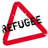 Refugee rubber stamp Stock Photo