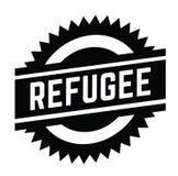 Refugee stamp on white. Background . Sign, label sticker vector illustration