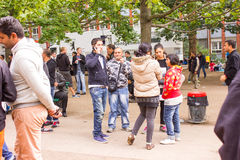Refugees in Berlin Royalty Free Stock Photos