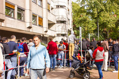 Refugees in Berlin Stock Photo
