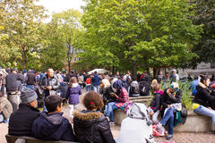Refugees in Berlin Stock Photos