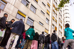 Refugees in Berlin Royalty Free Stock Images