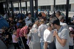 Refugees in Budapest, Keleti Railway Station Royalty Free Stock Photo