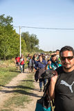 Refugees entering Croatia Stock Photography