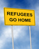 Refugees go home Stock Image