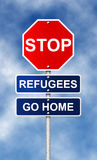 Refugees go home Stock Photo