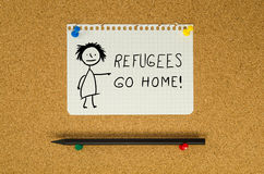 Refugees go home Royalty Free Stock Photo