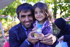 Refugees In Babska (Serbian - Croatina Border) Royalty Free Stock Photography