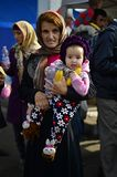 Refugees leaving Hungary Royalty Free Stock Photo
