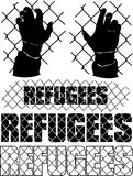 Refugees metaphor Stock Image