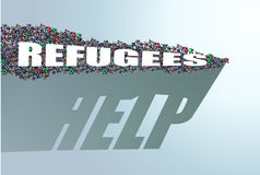 Refugees need help Stock Photo