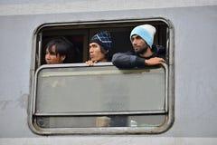Refugees in Tovarnik (Serbian - Croatina border) Stock Images