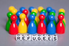 Refugees Welcome Stock Photography