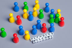 Refugees Welcome Royalty Free Stock Photos