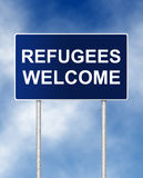 Refugees welcome Stock Photos