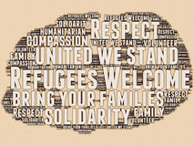 Refugees Welcome Stock Images