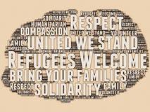 Refugees Welcome vector illustration