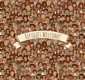 Refugees Welcome! Royalty Free Stock Photos