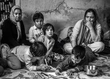 Refugiado sin hogar en Grecia Fotografía de archivo