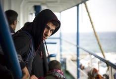 Refugiado sirio Imagen de archivo libre de regalías