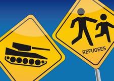 refugiados ilustración del vector