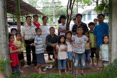 Refugiados de Hmong en IDC Nong Khai, Tailandia Foto de archivo libre de regalías