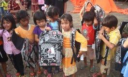 Refugiados de los niños Imagen de archivo libre de regalías
