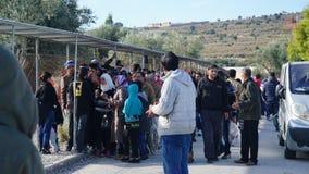 Refugiados en el campo Imagen de archivo
