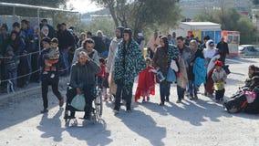 Refugiados en el campo Fotos de archivo libres de regalías