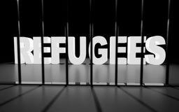Refugiados na cadeia Imagens de Stock Royalty Free