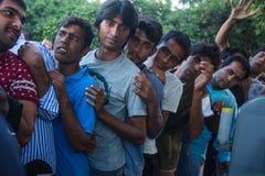 Refugiados que chegam em Grécia por barcos infláveis de Turquia Imagem de Stock Royalty Free