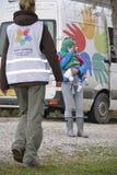 Refugiados que chegam em Lesvos Fotografia de Stock