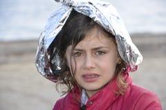 Refugiados que chegam em Lesvos Imagem de Stock Royalty Free