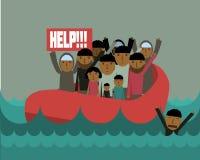 Refugiados sírios Imagens de Stock Royalty Free