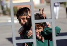 Refugiados sírios Bulgária Imagens de Stock