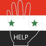 Refugiados sirios, las manos de la gente que está pidiendo ayuda Foto de archivo libre de regalías